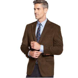 🆕 Ralph Lauren Brown Corduroy Blazer Suit Jacket